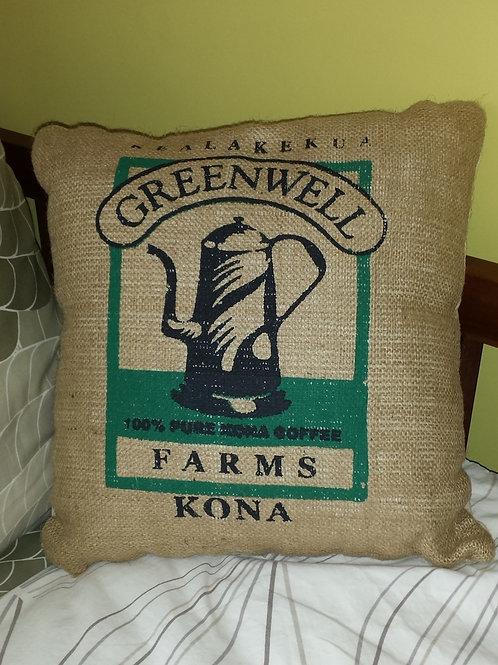 Burlap Cushion - Greenwell Farms