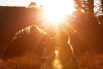 Wellbeing and healing with horses, Julie Bechu and her Horse in Central Tilba