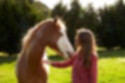 Julie Bechu and her horse athe Horse's Gift