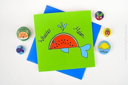 Whalter Melon Blank Greeting Card