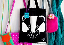 www.thePerkyPainter.com badger tote bag 3