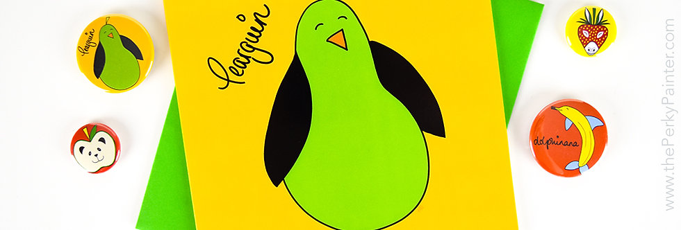 Pearguin Blank Greeting Card