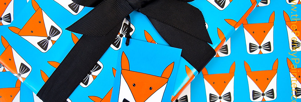 Foxy Present Gift Wrap Pack