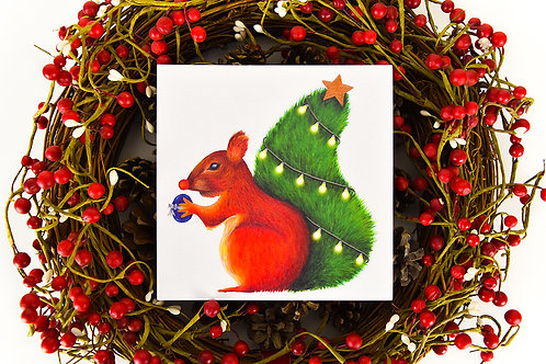 Nuts for Christmas Square Christmas Card