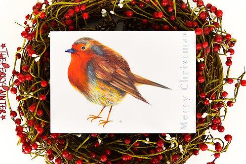 Radiant Robin Large Christmas Card