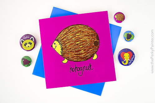 Hohognut Blank Greeting Card