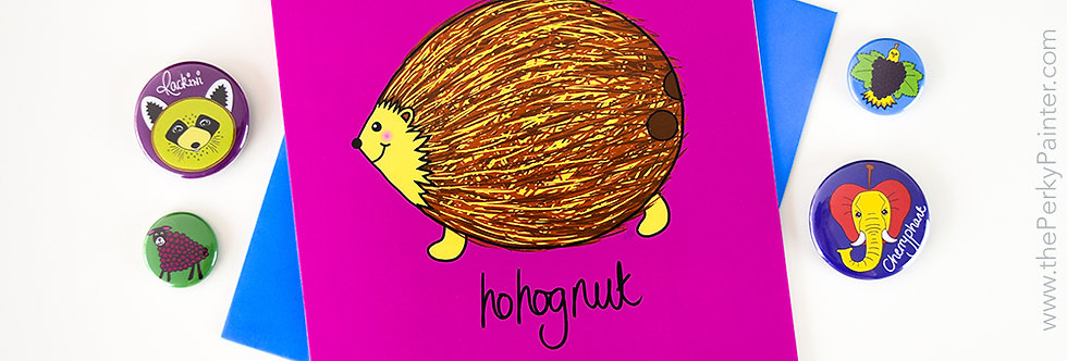Hohognut Blank Greeting Card