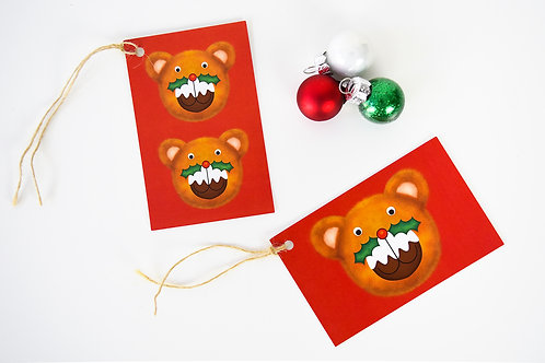 Puddington Bear Gift Tag Pack - Red