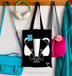 www.thePerkyPainter.com badger tote bag 2