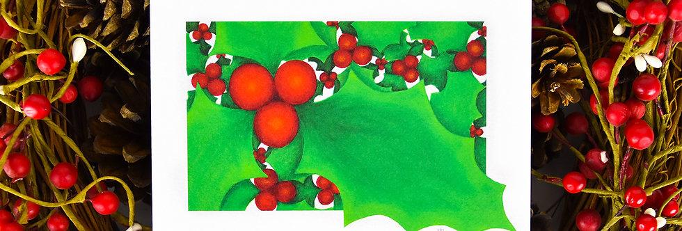 Happy Holly-Days Christmas Card