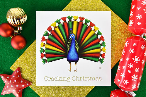 Peacracker Square Christmas Card