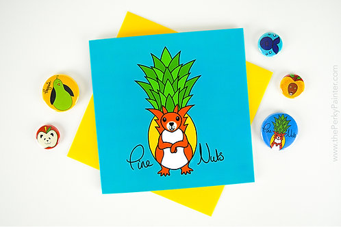 Pine Nuts Blank Greeting Card