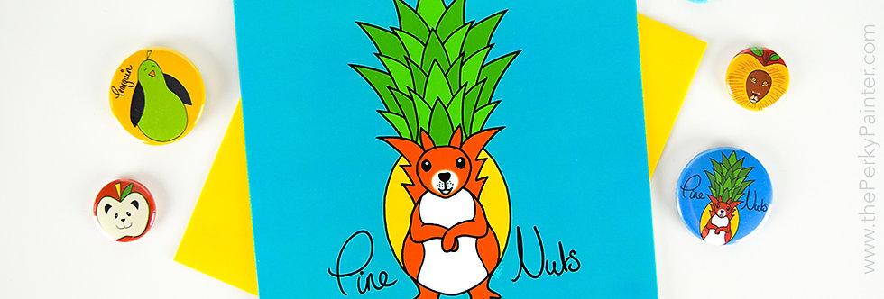 Pine Nuts Blank Greeting Card
