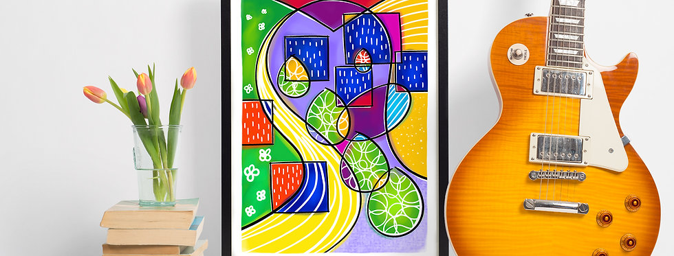 'It's OK 1' Abstract Giclee Print (A4)