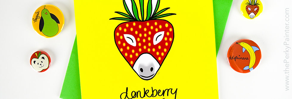 Donkberry Blank Greeting Card