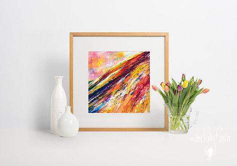 'Rainbow Hill' Giclee Fine Art Print 40x40cm