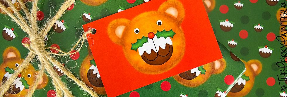 Puddington Bear Gift Wrap Pack - Green