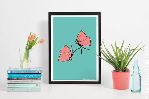 Butterfly-Bow Art Print