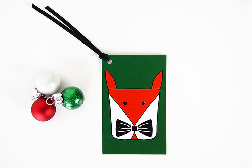 Foxy Present Christmas Gift Tag Pack