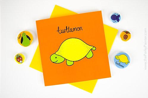 Turtlemon Blank Greeting Card