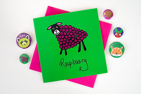Raspbaary Blank Greeting Card