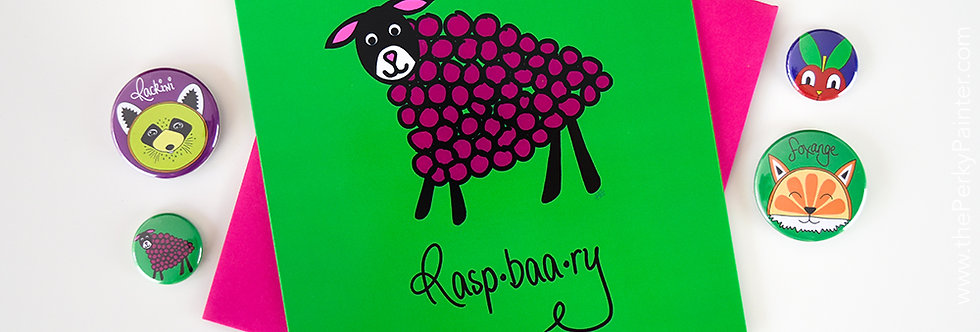 Raspbaary Blank Greeting Card