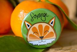 www.thePerkyPainter.com Fruinimal Fridge Magnet Foxange