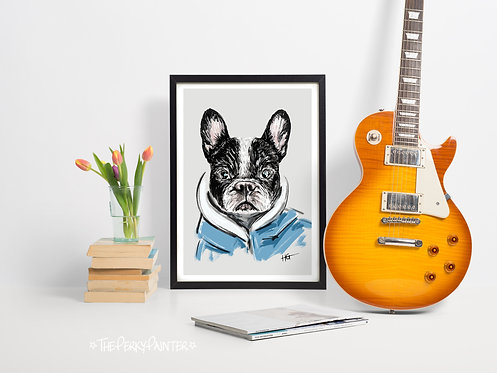 Boston Terrier Giclee Print (A4)