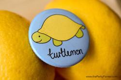 www.thePerkyPainter.com Fruinimal Fridge Magnet turtlemon