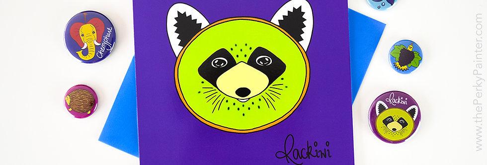Rackiwi Blank Greeting Card