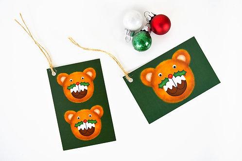Puddington Bear Gift Tag Pack - Green