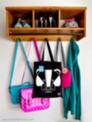 Badgerbow Tote Bag the Perky Painter Quirky Gifts Gifts for Her Cute Animal Bag