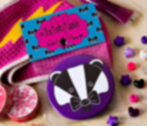 Pocket Mirror Bow Badger the Perky Painter Gifts for Her Cute Animal