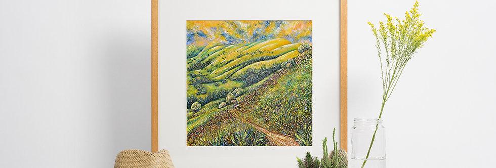 'Follow Me' Giclee Fine Art Print 40x40cm