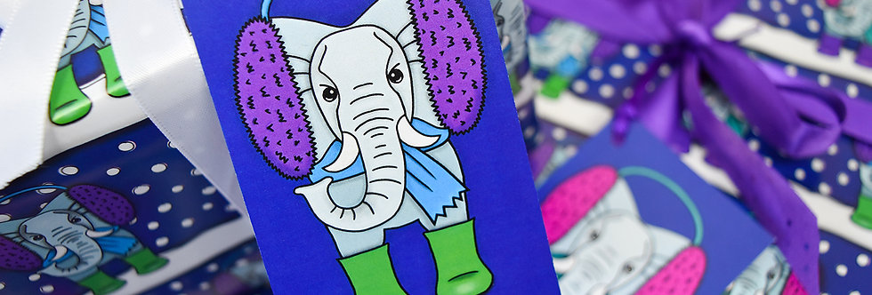 Elephant Gift Tag Pack