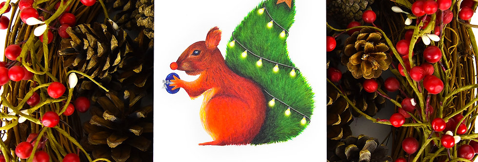 Nuts for Christmas Card
