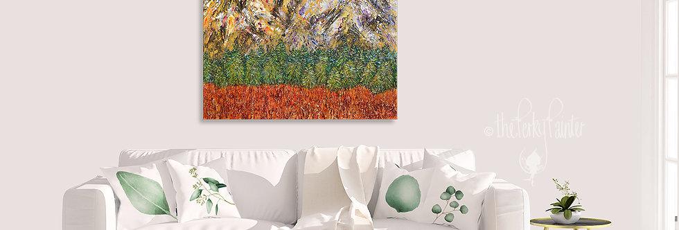'Sunrise Slopes' Original Painting
