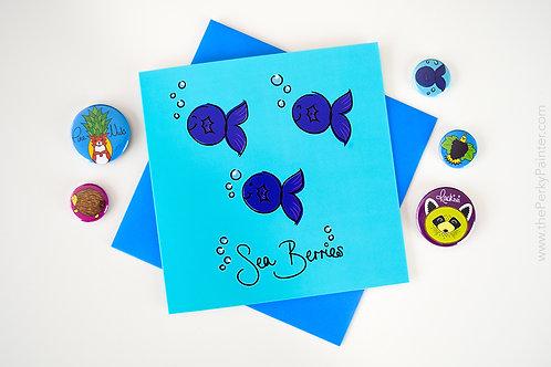 Sea Berries Blank Greeting Card
