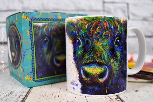 'Disheveled Beltie' Cow Mug