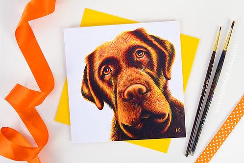 """Playtime?"" Dog Blank Greeting Card"