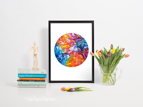 Happy Planet Fine Art Giclee Print (A4)