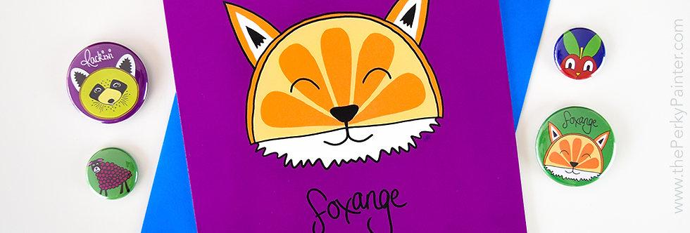 Foxange Blank Greeting Card