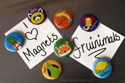 www.thePerkyPainter.com Fruinimal Fridge Magnets on board 1