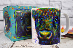 www.thePerkyPainter.com Cow mug