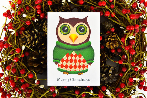 Christmas Hoot Card