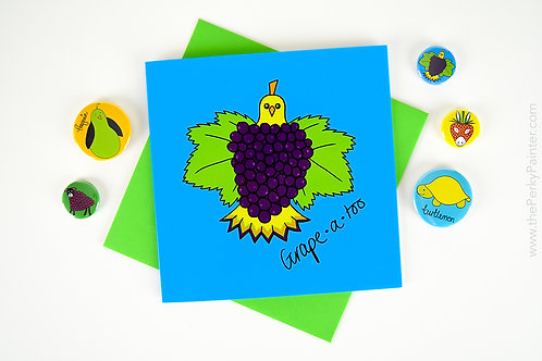 Grape-atoo Blank Greeting Card