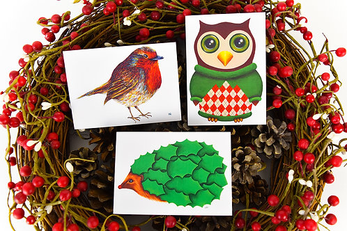 Small Christmas Cards - Pack of 9