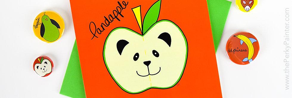 Pandapple Blank Greeting Card