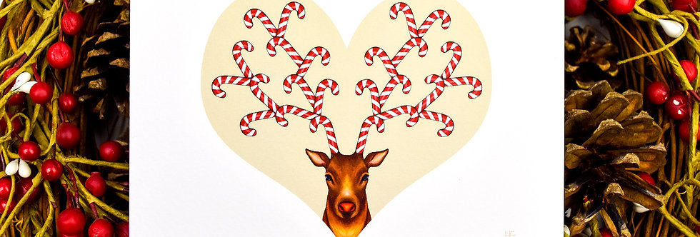 Canedeer Christmas Card