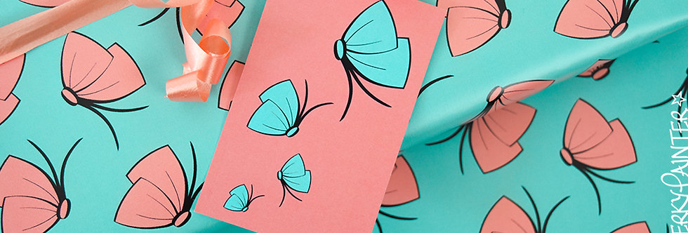 Butterfly-Bow Spring Gift Wrap Pack